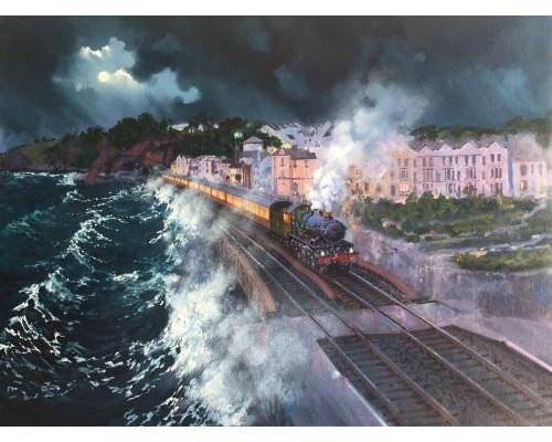 Stormy Night in Dawlish by John Austin FGRA