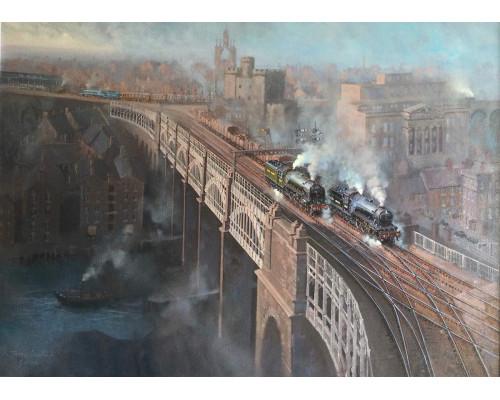 Newcastle High Level Bridge by John Austin FGRA