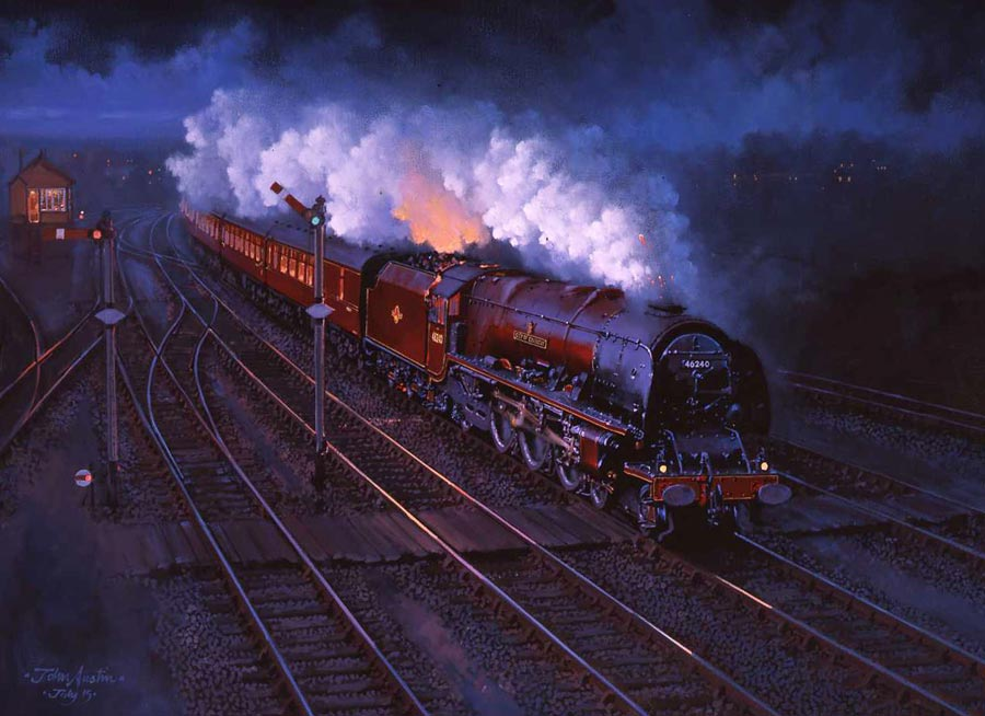 Night Scot at Tamworth by artist John Austin