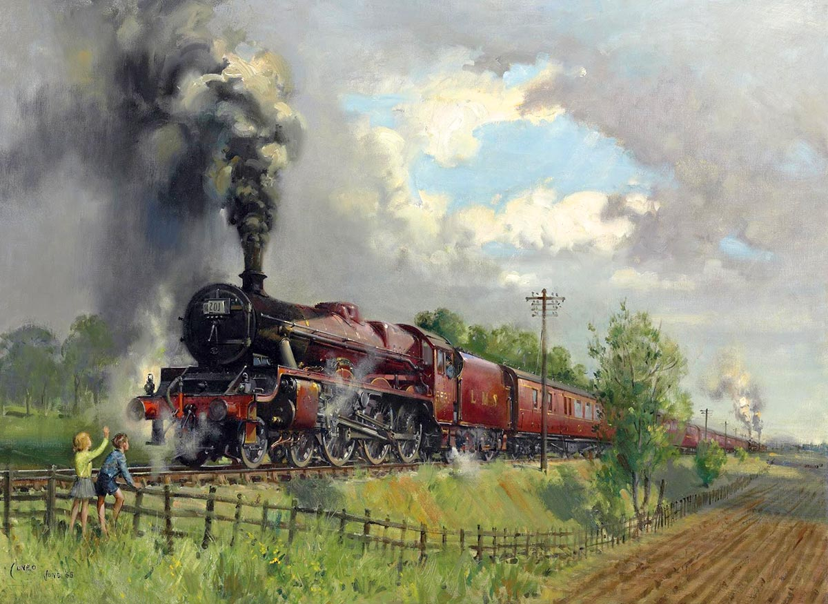 Famous Steam Train Paintings