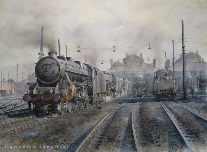 Artist: James Green   Railway Art