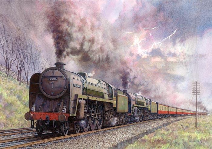 British Railway Paintings By Artist Mike Turner