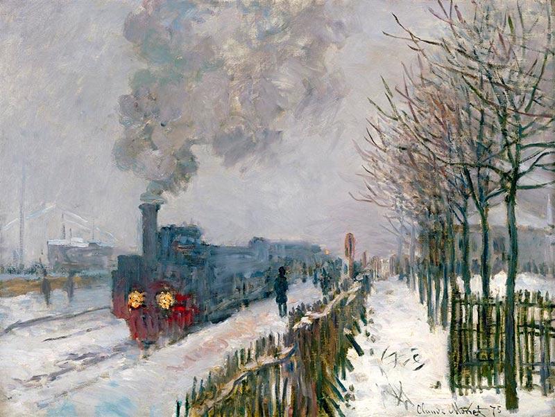Monet's 'Le Train dans la Neige'