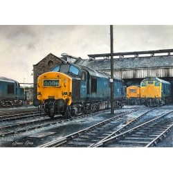 Class 37 at Grangemouth 1976 by James Green