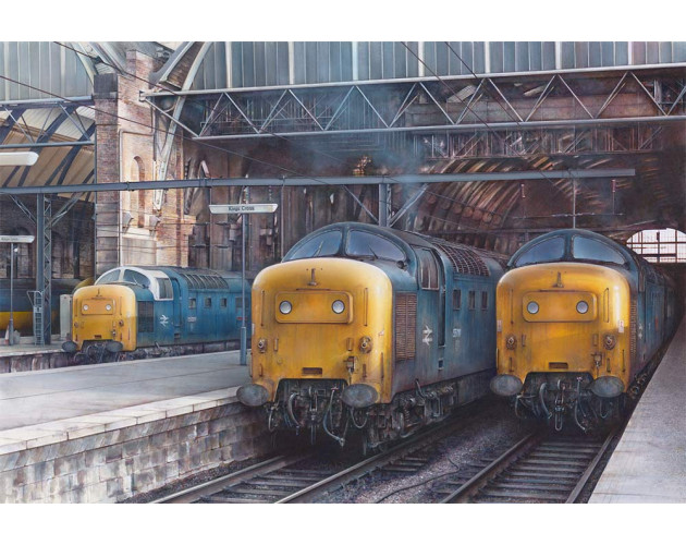 Deltics at King's Cross - 1979 by James Green