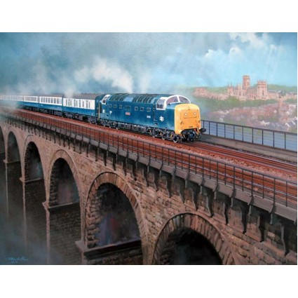 Deltic At Durham by John Austin