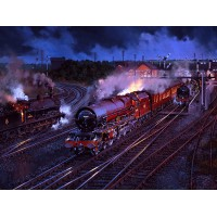 Memories of Lichfield Trent Valley (Night) by John Austin