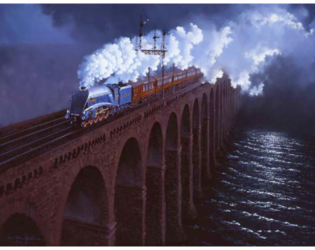 Moonlight Over The Tweed by John Austin