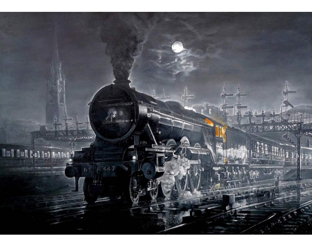 Flying Scotsman at Newcastle by Kevin Parrish