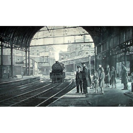 Waiting For The Train by Kevin Parrish
