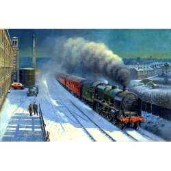 Saltaire Winter by Philip D Hawkins