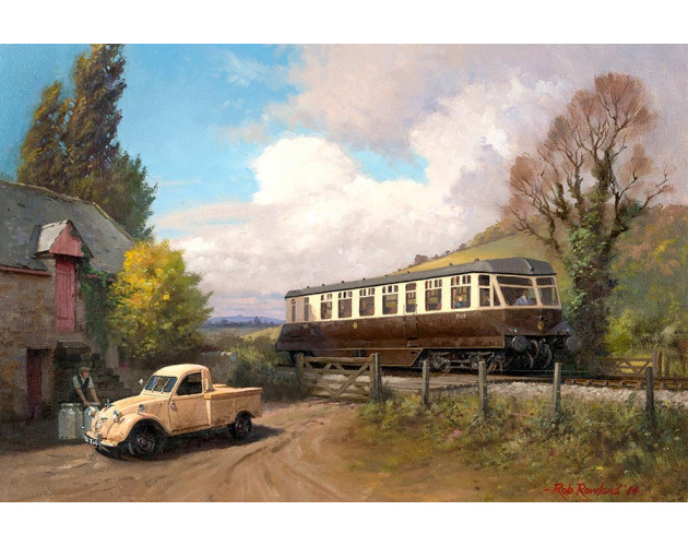Just Passing - GWR Railcar by Rob Rowland