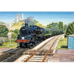 Corfe Castle Station by Gerald Savine