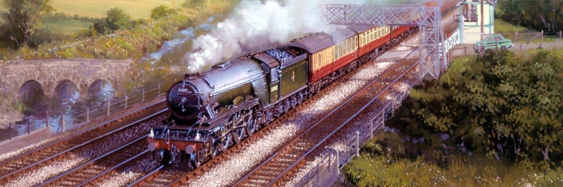 Railway Print by John Austin FGRA